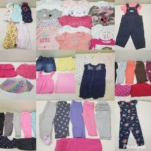 54 pc Baby Girl Summer Lot 6 Months Pants Sleepers